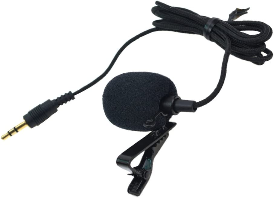 Perfect for Recording//Interview//Video Conference//Podcast//Voice Dictation Portable Lavalier Lapel Microphone / Omnidirectional Mic with Easy Clip On System /for GoPro HERO3 3 4 Camera