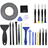 Mudder 23 Pieces Opening Pry Tool Repair Kit and Screwdriver Set for iPhone, iPad, Samsung, HTC and Other Devices