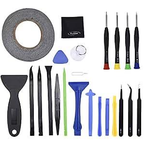 Mudder Palanca de Apertura Kit de Herramientas de Reparación y Kit de Destornilladores para iPhone, iPad, Samsung, HTC y otros Dispositivos, 23 Piezas