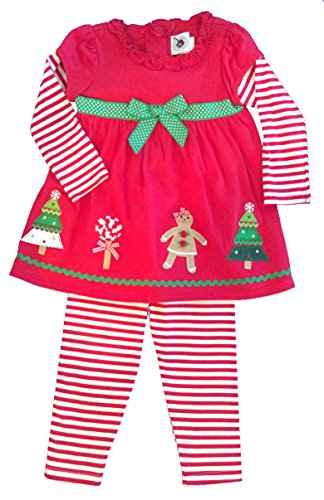 Good Lad Two Piece Red Holiday Dress and Leggings (5 years)