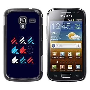 GOODTHINGS Funda Imagen Diseño Carcasa Tapa Trasera Negro Cover Skin Case para Samsung Galaxy Ace 2 I8160 Ace II X S7560M - y firmar la caligrafía estilo minimalista