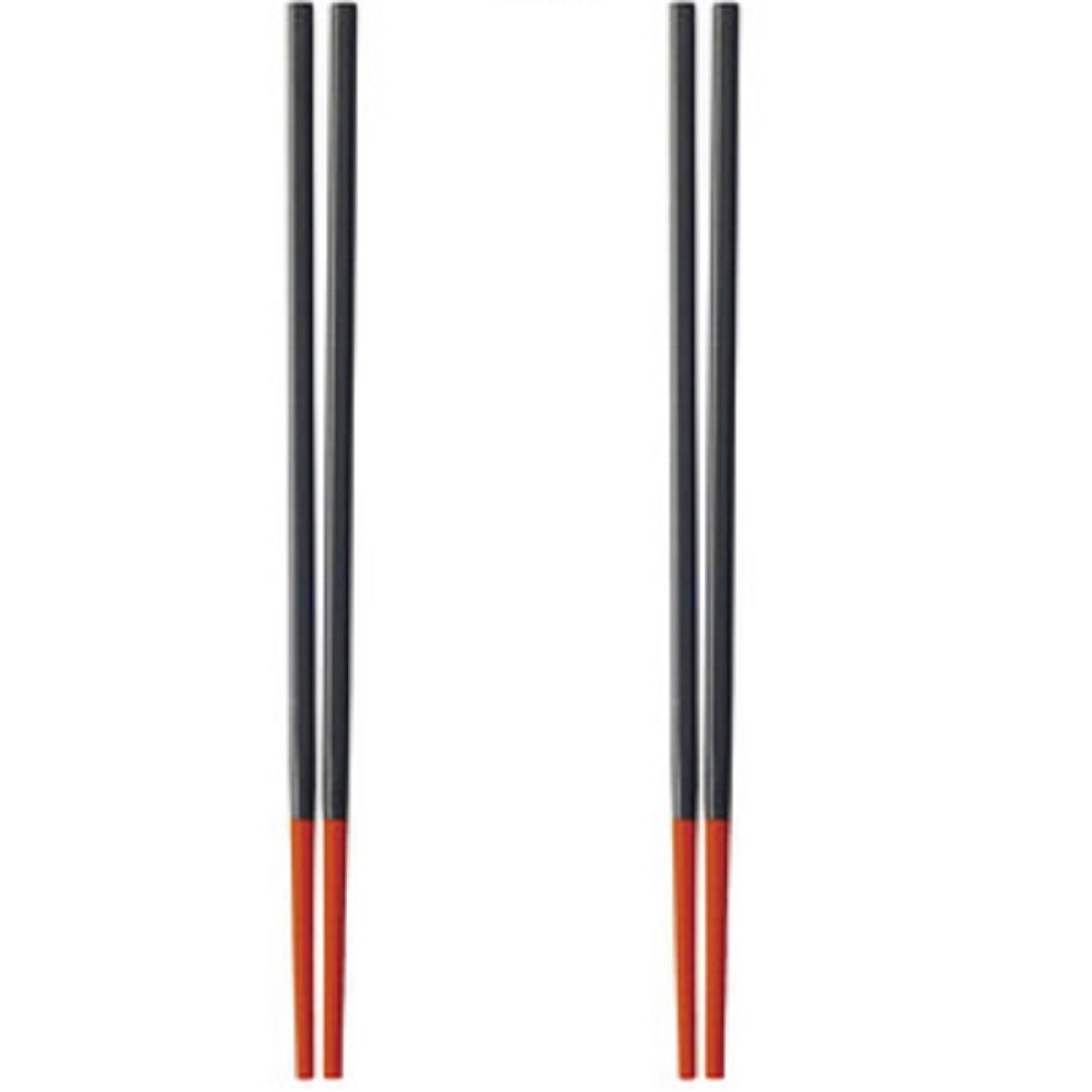 Silicone Tip Chopstick Set, Set of 2, Red
