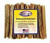 25 Pack 6 Inch Regular Bully Sticks By Shadow River – Product Of The Usa