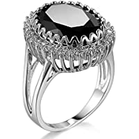 Fashion Women 925 Silver Black Onyx Ring Wedding Engagement Jewelry Size 6-10 by khime (6)