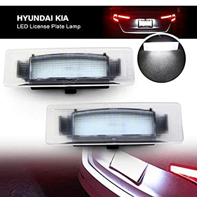 Led License Plate Lamp for Kia - NSLUMO Led License Plate Lights 12V OEM Fit for Kia Cadenza 2014-2016 Optima 06-18 Sportage 17-18 K2/K3/K5 Xenon White Led Bulbs: Automotive
