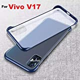 REALCASE V17 Back Cover Case, Ultra Thin Frameless Matte Hard Shockproof TPU Bumper Case Cover for Vivo V17 (F-Blue)