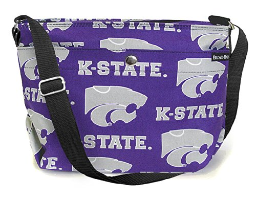 Broad Bay Kansas State Purse Official K-State Shoulder Bags for Her K State University Gameday Bag (University Day Game Purse)