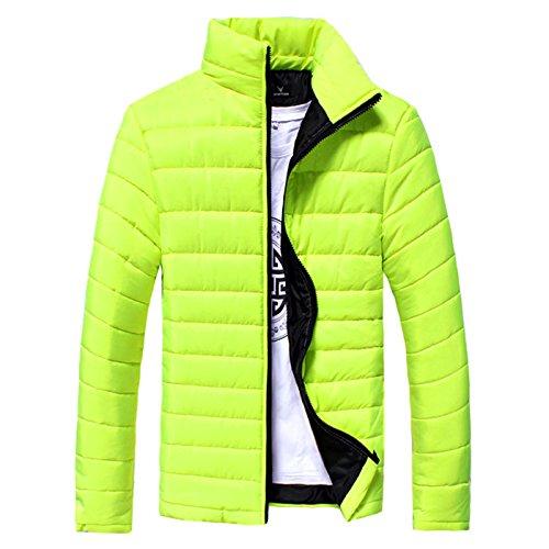 men's Fluorescein yellow jacket XL men's fashion leisure padded Winter HHY slim cotton collar Rq4ffp