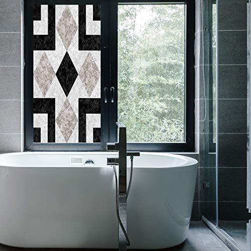 YOLIYANA Control Heat and Anti UV Window Cling,Apartment Decor,Reduce Heat, Glare and Block Out Harmful UV Rays,Nostalgic Marble Stone Mosaic Regular Design with Alluring,24''x48''