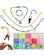 DIY Face Mask Lanyard for Kids Craft Kits for Kids, Best Gift Ideas for Kids, Comfortable Around The Neck Rest Ear Saver Cute Mask Lanyard DIY Acrylic Keychain