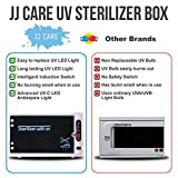 JJ CARE UV Sterilizer for Salon, UV Light Sanitizer Box, UV Sterilizer Machine with Stainless Tray for Spa and Beauty Tools, Salon Tool Tabletop Sterilizer Cabinet