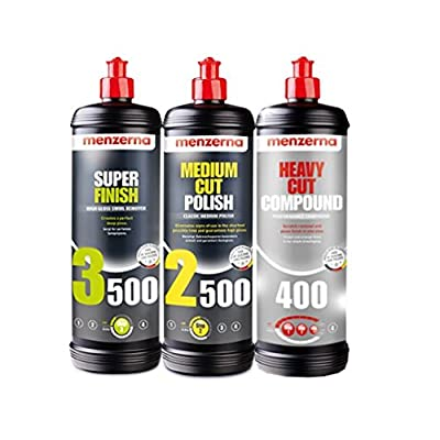 Menzerna Super 3500, Medium 2500, and Heavy 400 Polishing Compound Kit: Automotive [5Bkhe0805350]