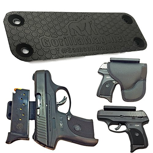 Gorilla Magnet - Samson Magnetic Gun Mount | Super Strong Holds 43lbs | Concealed Carry Gun Magnet Firearm Accessory | Pistol, Handgun, Rifle, Shotgun, Revolver, Airsoft, BB | Car, Home, Wall, Desk, CCW @GorillaMagnet