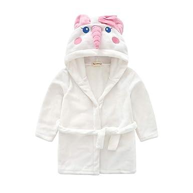 Jungen Baby Mikrofaser Bademantel Teddy Bär rosa weiß
