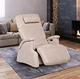 """Zero-Gravity Recliner """"Tranquility"""" Perfect Chair with Jade Heat and Wave Therapy, Bone"""