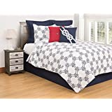 C&F Home Nautical Ropes Twin 2 Piece Quilt Set Twin 2 Piece Set Blue