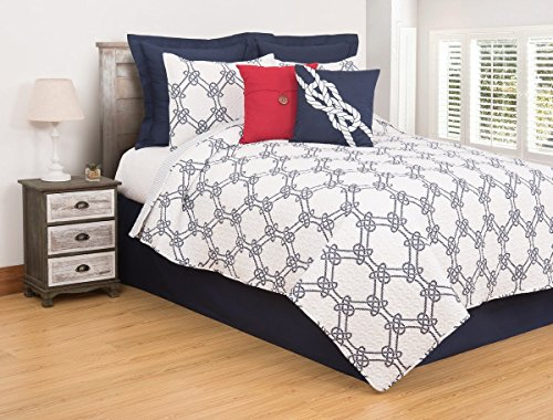 Compass Quilt - C&F Home Nautical Ropes Twin 2 Piece Quilt Set Twin 2 Piece Set Blue