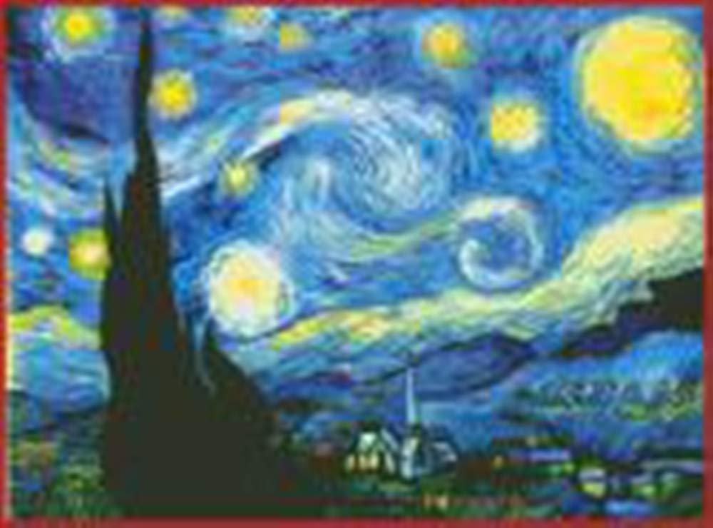 The Starry Night of Van Gogh 23.3 x 17.8 100/% Cotton DIY Embroidery Starter Kits DIY Needlework for Beginners Kids Adults Full Range of Stamped Cross Stitch Kits 11 CT