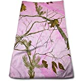 Realtree Pink Camo Shower Curtain Pink Realtree Camo Cotton Bath Towels for Bathroom-Hotel-Spa-Kitchen-Set - Circlet Egyptian Cotton - Highly Absorbent Hotel Quality Towels 12