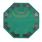 Livebest Folding Poker Table Octagon Blackjack Casino and Holdem Gambling Desk 8 Players