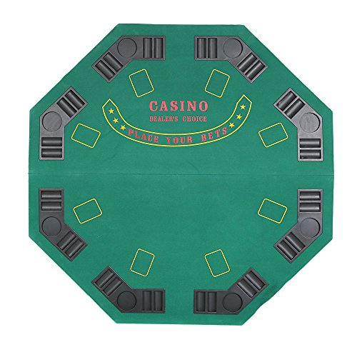 KARMAS PRODUCT Green Octagon Table Top for 8 Players, Poker, Blackjack Game by Karmas Product