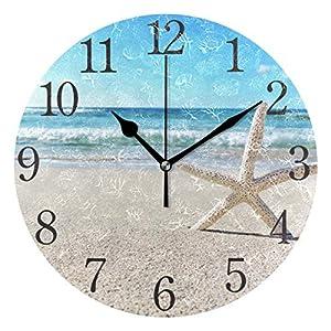 51990kle55L._SS300_ Coastal Wall Clocks & Beach Wall Clocks