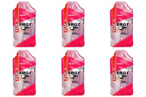 (6 PACK) - Clif Bar Shot Gel - Razz Flavour| 34 x 24 gx |6 PACK - SUPER SAVER - SAVE MONEY