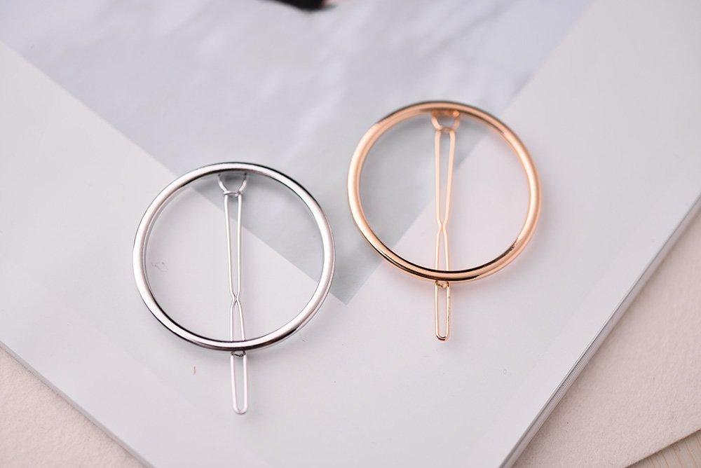 8pcs Pinza de Pelo Conjunto Luna Tri/ángulo C/írculo Plumas en Forma de Pelo Horquilla Broches de Estilo Accesorios Para Mujeres Oro y Plata