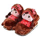 Automne et l'hiver en coton Chaussures m¨¦nages chaussons - Brown