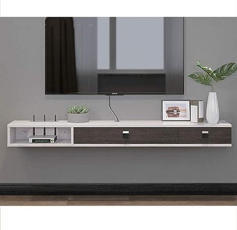 ZPWSNH Mueble de Estante de Estante para TV montado en la Pared Consola de Entretenimiento Multimedia, Juego de estanterías con 3 cajones Muebles para el hogar Mueble para TV de Pared: Amazon.es: