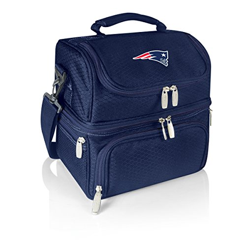 - PICNIC TIME NFL New England Patriots Pranzo Insulated Lunch Tote with Service for One, Navy