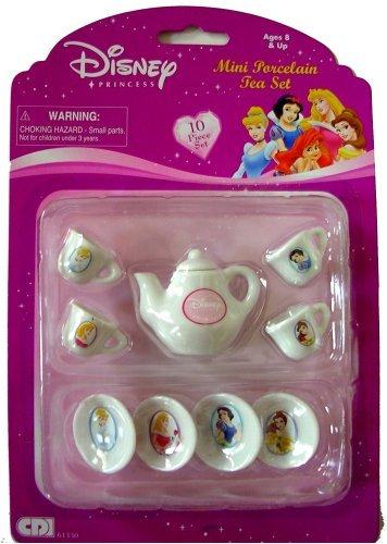 Disney Princess Mini Porcelain Tea Set, 10pcs (Princess Porcelain)