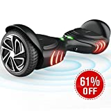TOMOLOO Hoverboard with Smart Scooter Two-Wheel Self Balancing Electric Scooter and Light - Black Hover Board with UL2272 Certified for 265 lbs MAX Weight…