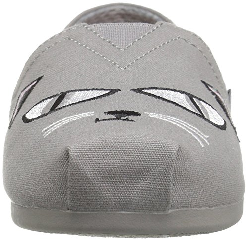 Skechers Bobs Van Womens Plush-wish-skers Plat, Grijs Wish-skers, 6.5 M Us