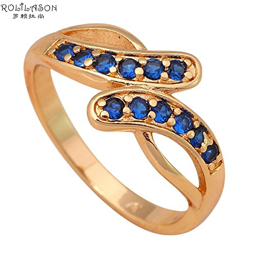 Cherryn Jewelry Vanguard blue Gold Plated Fashion Jewelry Golden Element