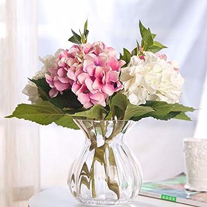 Del Piso Al Techo Jarrones De Cristal Flores Artificiales Flores - Jarrones-con-flores-secas