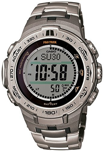 CASIO watches PROTREK Slim Line Series Triple Sensor Ver.3 equipped with the world six stations radio waves corresponding solar model titanium band specification PRW-3100T-7JF Men