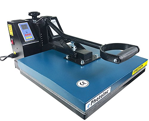 ePhoto New 15'' x 15'' Digital T-Shirt Heat Transfer Press Sublimation Heat Press Machine 1515BLUE by Hibo