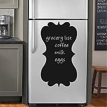 "BATTOO Kitchen Vinyl Wall Decal Chalkboard Wall Decal - Refrigerator Menu Chalk Board - Refrigerator Decal - Wall Decor (20""h x11""w, Black)"