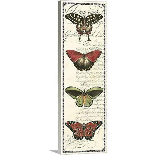 (GREATBIGCANVAS Gallery-Wrapped Canvas Entitled Butterfly Prose Panel I by Vision Studio 12