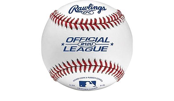 R12UBUCK24 Youth 12U Bucket of 24 Rawlings Game Play Baseballs ,
