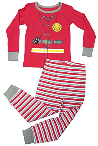 Top Costume Elf Tight Fit Boy Pajamas Set Snug Winter Warm Wow Easter Basket Stuffer Sale PJs Idea Under 20 Dollars for Youth Infant Baby Toddlers Kids (Elf, 18Mo) ()