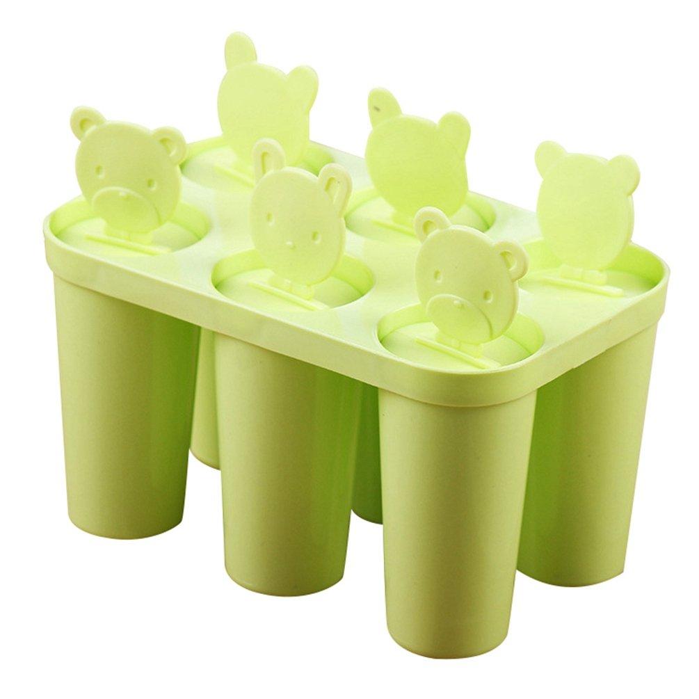 Compra Yoocang Moldes de Helados Caseros 6 Moldes Hielo Grande de Silicona Hielo Paletas para Popsicle Zumo de Fruta Yogur (Verde, 15*7.5*15 cm) en Amazon. ...