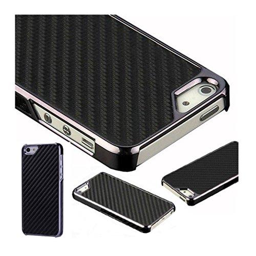 Mobile Case Mate iPhone 5 Fibre de carbone et Metalic Effet clip on Dur Coque couverture case cover Pare-chocs