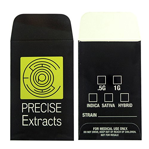 500 Precise Extracts Shatter Labels Wax Strain Coin Envelopes #140 by Shatter Labels