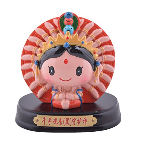 Feng Shui Chinese Zodiac- Rat Amulet God Car Decoration+ Free Red String Bracelet G1921-5