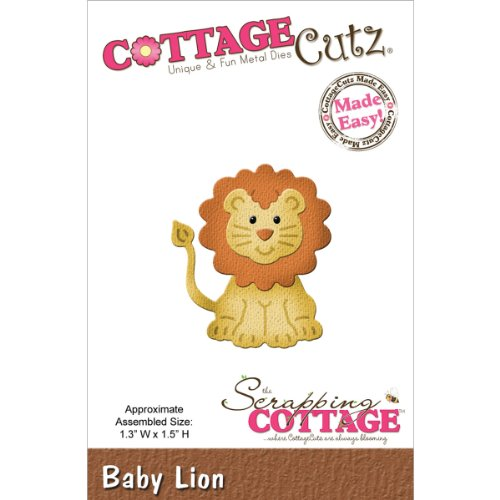 CottageCutz Die Cuts, 1.3 by 1.5-Inch, Baby Lion