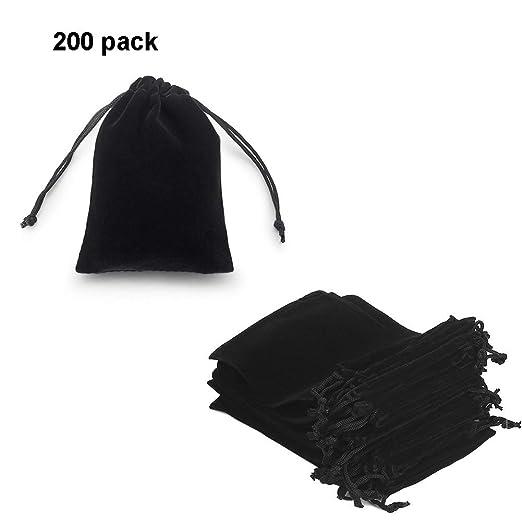 Amazon.com: Bolsas de terciopelo negro GYBest para joyas ...