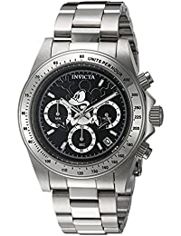 Mens Disney Limited Edition Quartz Stainless Steel Casual Watch, Color:Silver-