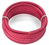 2 Gauge Premium Extra Flexible Welding Cable 600 VOLT - RED - 25 FEET - EWCS Spec - Made in the USA!